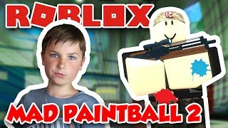 MY SNIPING SKILLS à ROBLOX MAD PAINTBALL 2