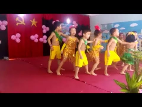 The children dance ethnic music vibrant