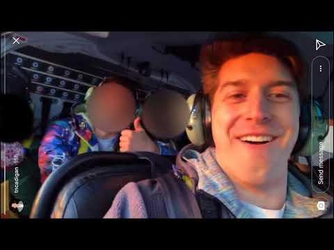 Instagram story shows Trevor Cadigan, others on helicopter before crash