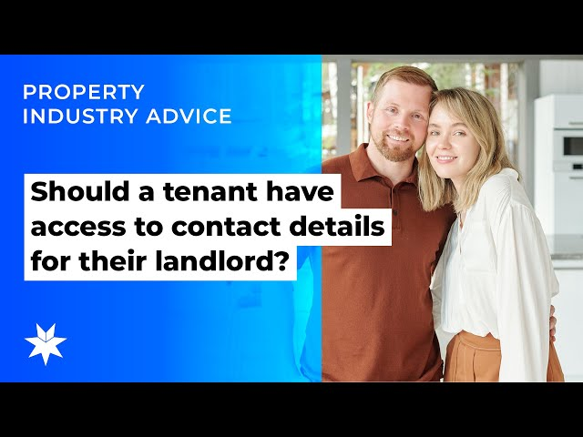 Should a tenant have access to contact details for their landlord?