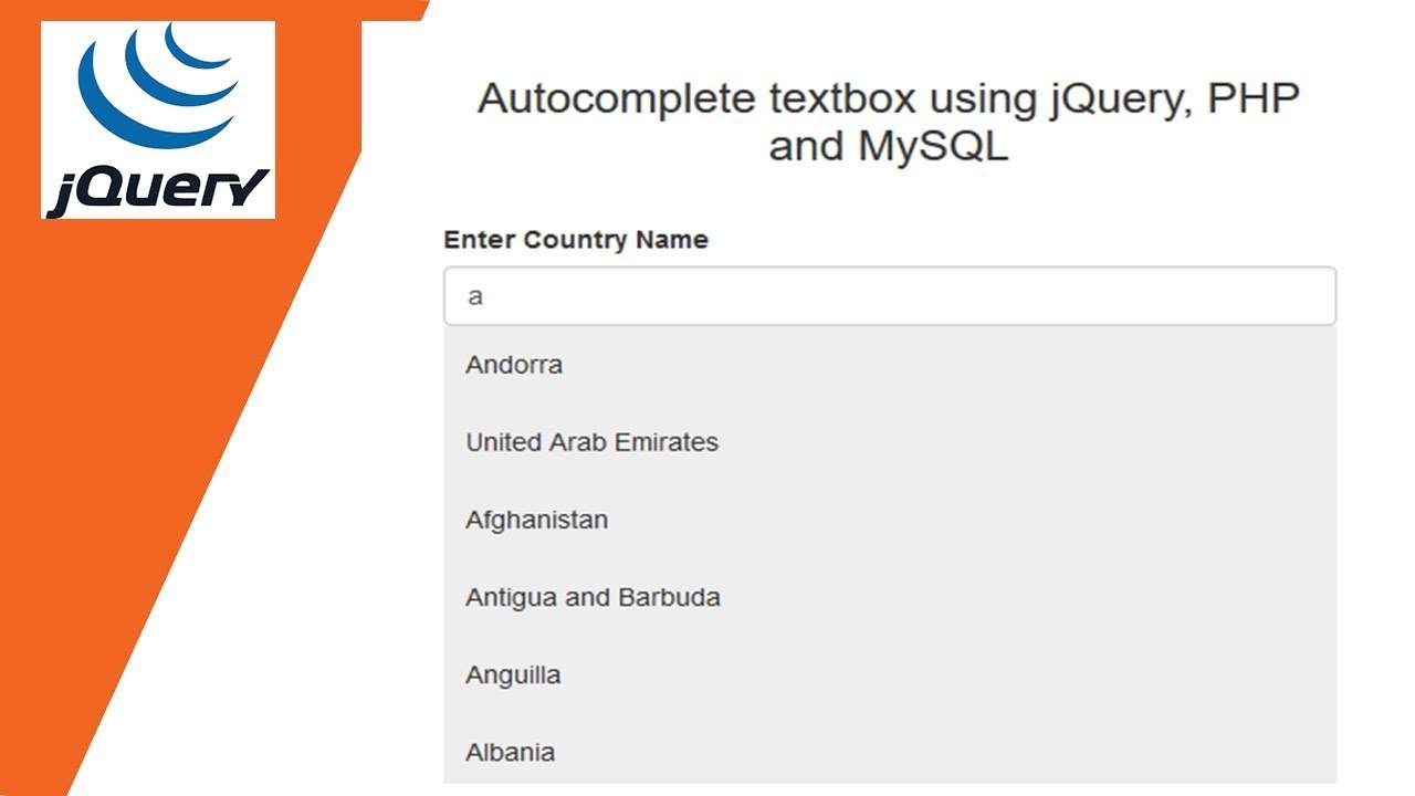 Autocomplete textbox using jQuery, PHP and MySQL 💡 Like Google  Autocomplete textbox 🔥🔥