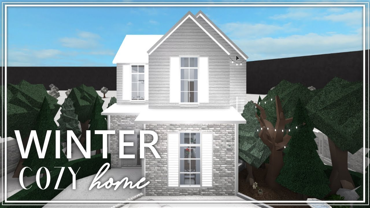 Roblox Welcome To Bloxburg Cozy Winter House Youtube