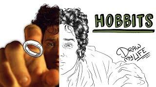 LOS HOBBITS | Draw My Life El Señor de los Anillos
