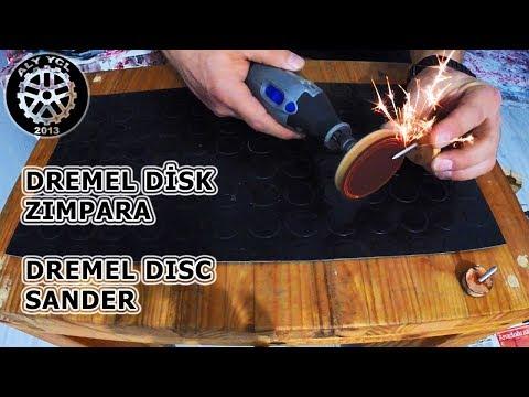 Dremel Için Disk Zımpara Yapımı - Making The Abrasive Disc For Dremel