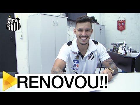 Zeca renova contrato com o Santos FC