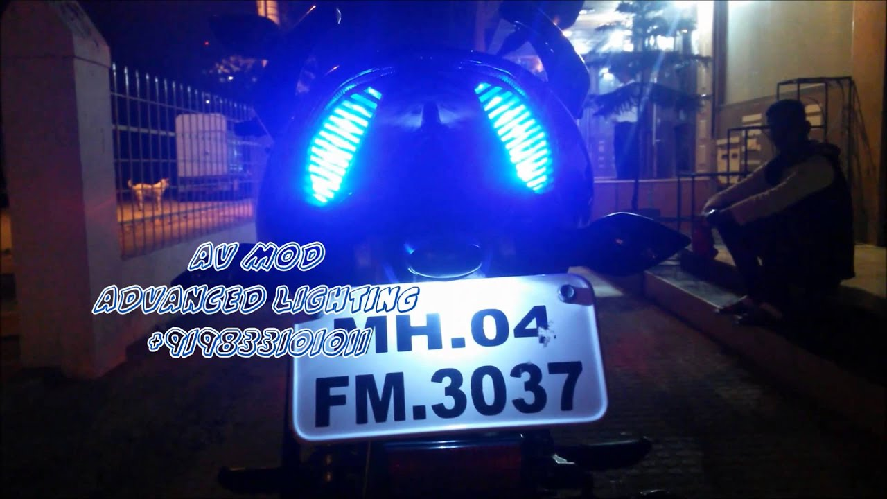 Pulsar 135 batman projector headlight by vishal