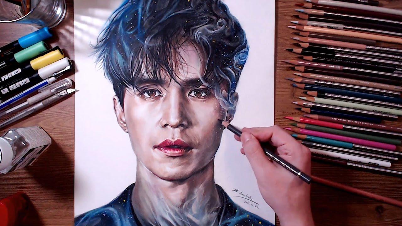 Dokkaebi Grim Reaperlee Dong Wook Colored Pencil Drawing Drawholic