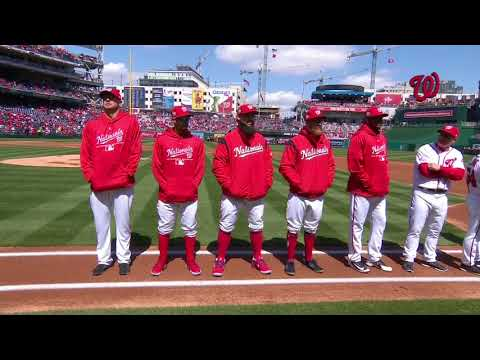 Nationals opening day ceremonies 2018
