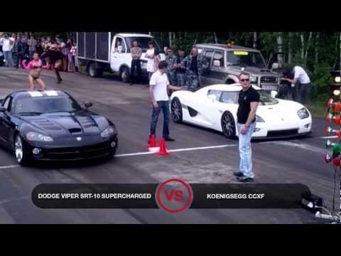 Dodge Viper SRT-10 Supercharged vs Koenigsegg CCXF