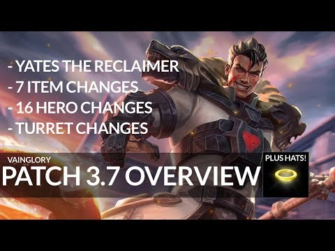Vainglory 3.7 Update Overview With Yates New Hero!