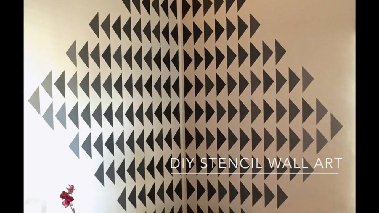 DIY Stencil Wall Art   YouTube