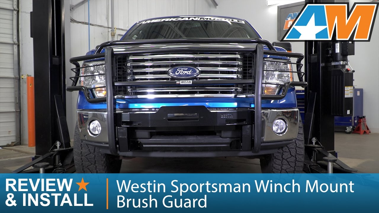 2009 2014 F 150 Westin Sportsman Winch Mount Brush Guard Review Install