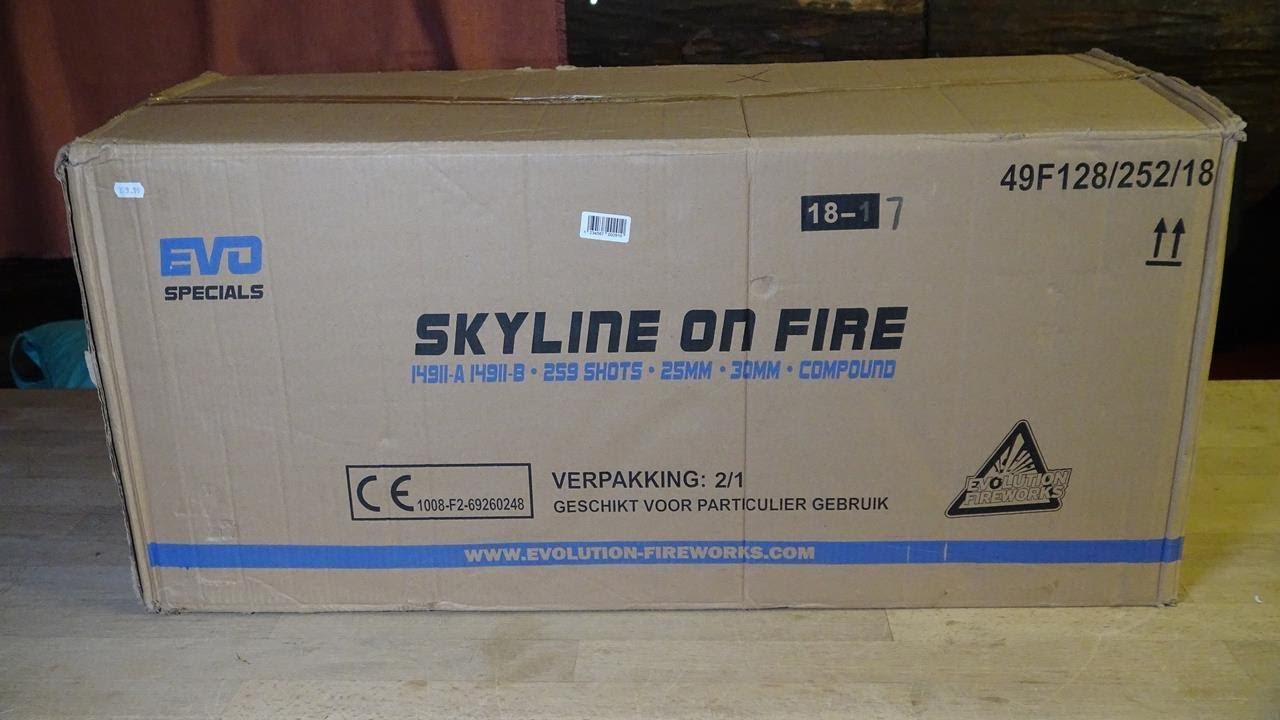Evolution Skyline on Fire | Riesiger Fan-Shape Doppelt-Verbund