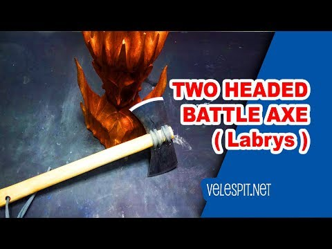How to Make Double Headed Axe   DIY   Labrys