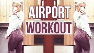 (Stockholm) Airport Gym Workout | What I eat In a Day | Fitness Vlog