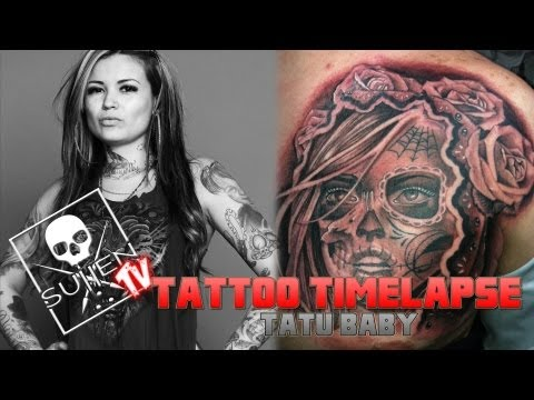Tattoo Time Lapse  Tatu Baby  Tattoos Day of the Dead Girl