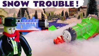 Thomas and Friends Toy Trains Snow Trouble Accident with a Play Doh Diggin Rigs toys rescue TT4U