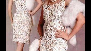 Как сшить нарядное платье  из кружевной ткани