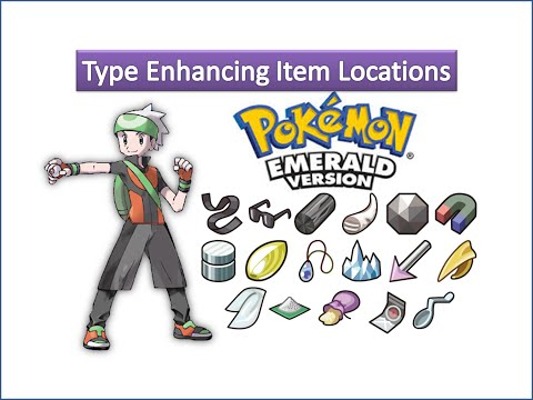 Pokemon Emerald - Type Enhancing Item Locations