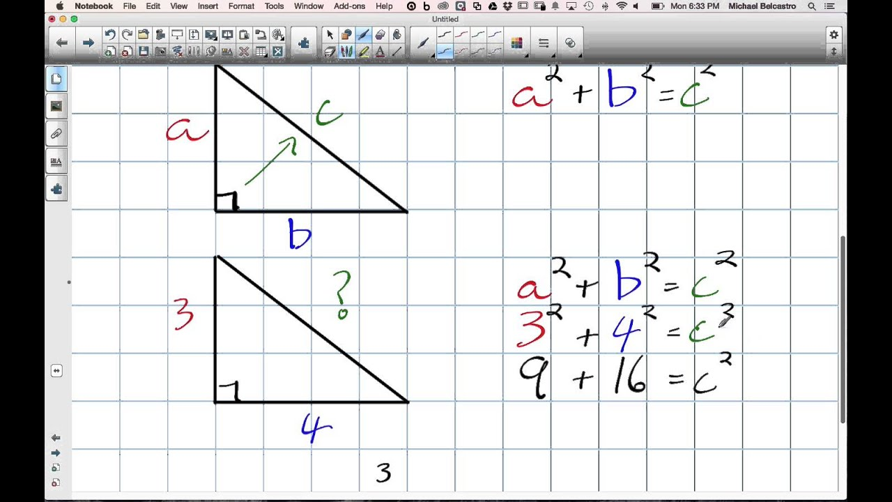 small resolution of Perimeter of a Triangle using Pythagorean's Theorem Grade 8 Nelson Lesson 10  6 12 8 14 - YouTube