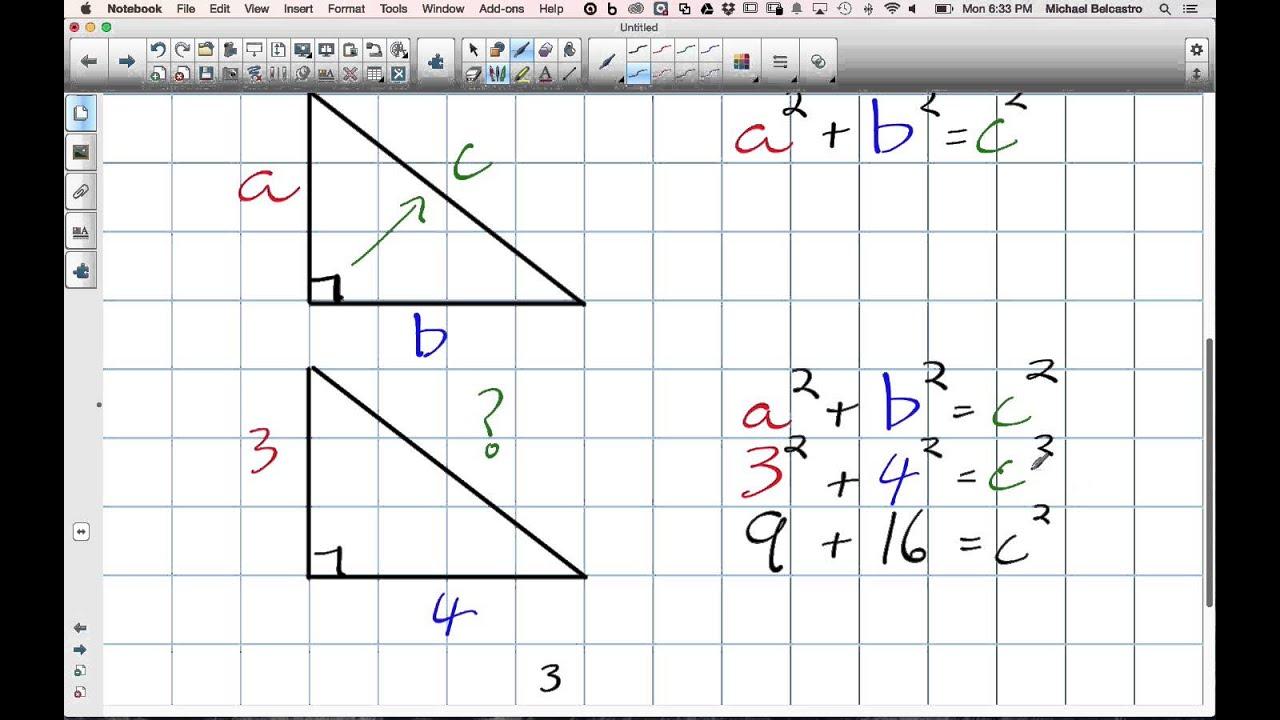 medium resolution of Perimeter of a Triangle using Pythagorean's Theorem Grade 8 Nelson Lesson 10  6 12 8 14 - YouTube