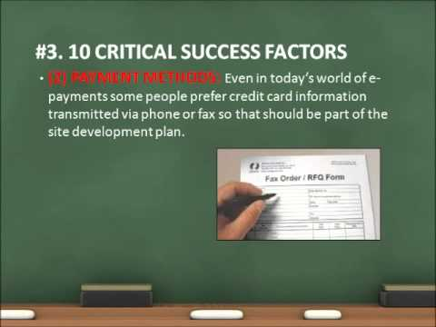MKT 640 E-Commerce Success Factors (3 Nov 11)