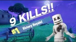 New Marshmellow Fortnite skin gameplay WIN !!!