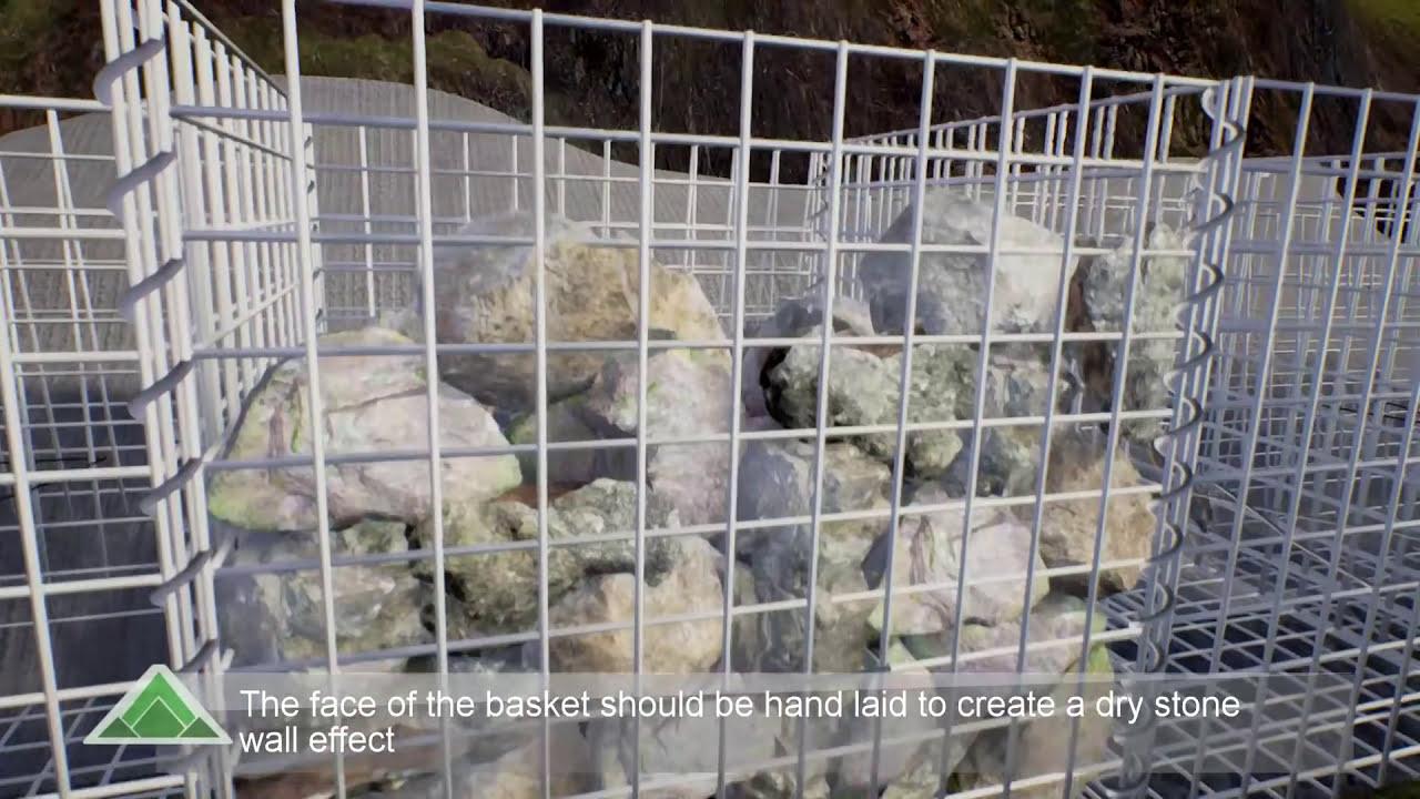 Gabion Basket Installation Guide - YouTube