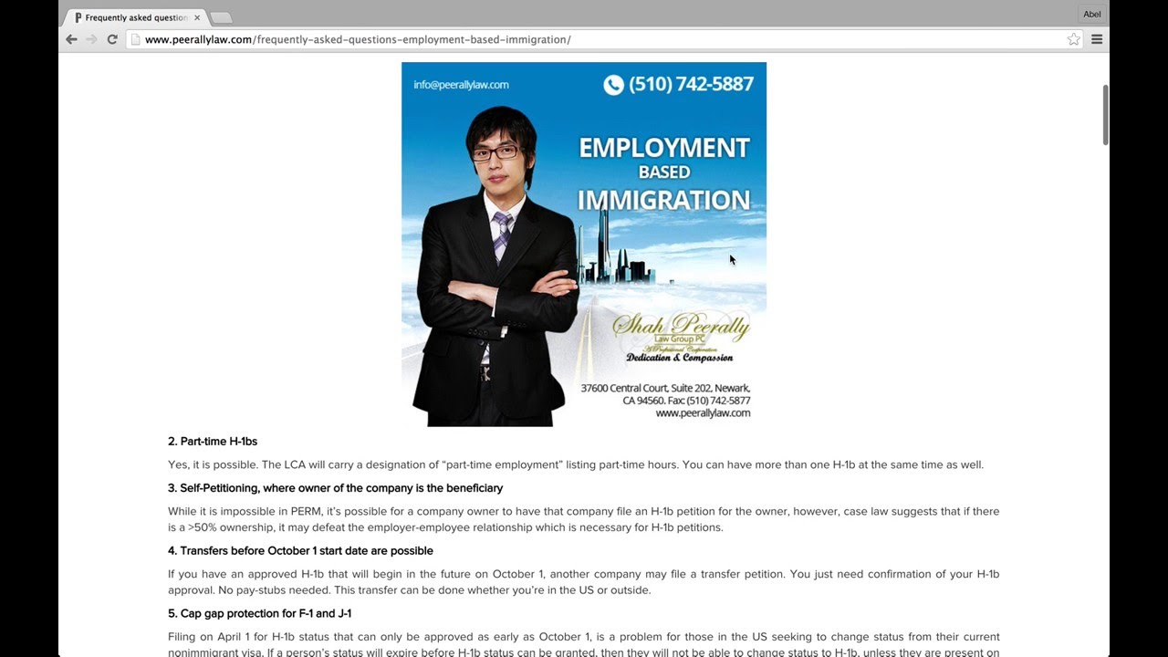 frequently asked questions on employment based immigration frequently asked questions on employment based immigration