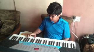 Sholay Harmonica on keyboard