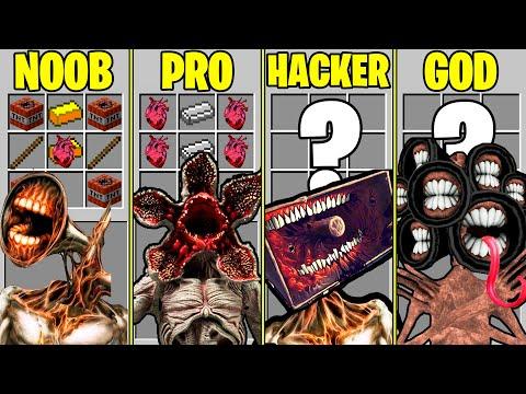 Minecraft NOOB vs PRO – CRAFTING SIREN HEAD EVOLUTION SCP 6789 IN MINECRAFT / Animation