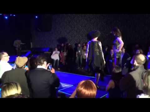 Great WMPG radio fashion show April 19  2015 Portland Maine. Designer Raisa Pelletier