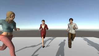 Schöne, Animierte, Realistische Menschen-Bürger Pack - 3D Modelle & Animationen - Unity3D Assets