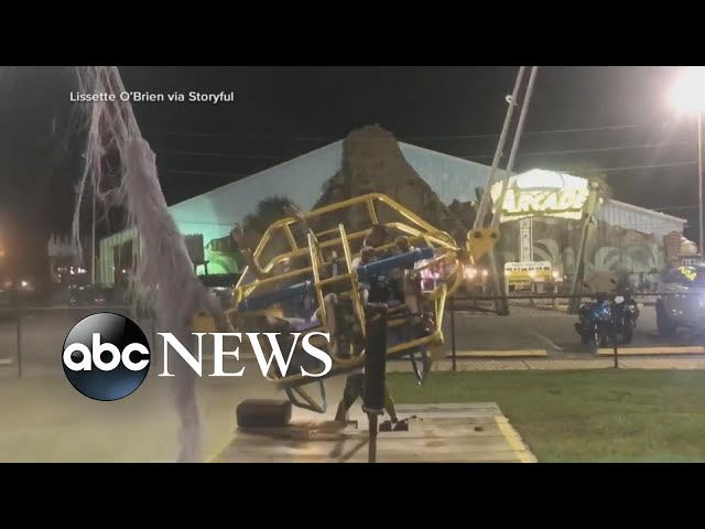 Slingshot ride cable breaks seconds before aerial launch