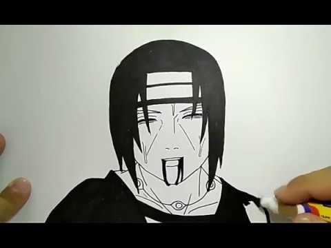 Simpel Cara Menggambar Anime Itachi Coretan Hitam Putih