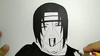 Simpel cara menggambar anime Itachi