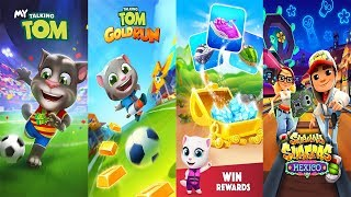 Talking Tom Gold Run - Talking Tom Jetski 2 vs My Talking Tom vs Subway Surfers Gameplay