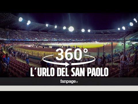 VIDEO 360° - Napoli-Nizza, lo stadio San Paolo urla l'inno della Champions