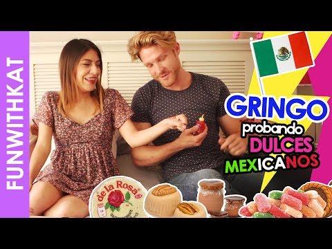 GRINGO PROBANDO DULCES MEXICANOS - Katia Nabil y John Michael