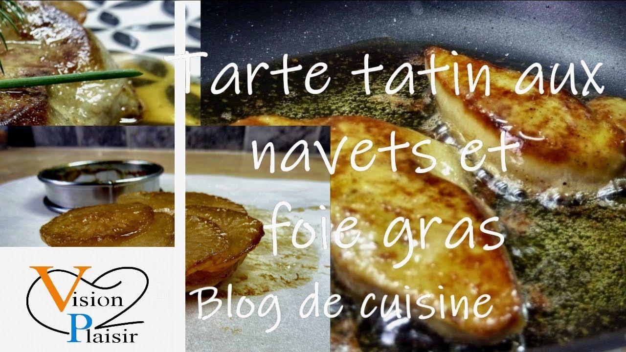Tartelettes tatin de navets et foie gras poêlé