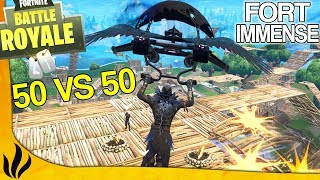 UN FORT IMMENSE SUR TOUTE LA ZONE FINALE DU 50 VS 50 ! (Fortnite: Battle Royale)
