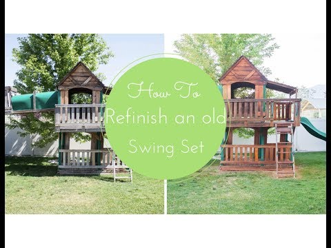 How To Refinish An Old Swing Set