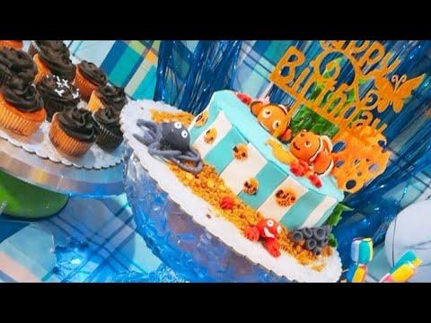 finding nemo Birthday theme idea..Nemo theme/sea theme/sand cake