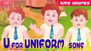 Alphabet Letter song 'U' | Nursery song | Kids Educational Rhyme | Kids club Rhymes | Kids songs