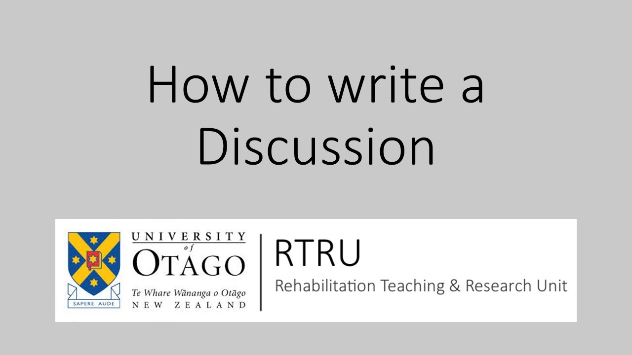 Writing a discussion for a research paper or thesis
