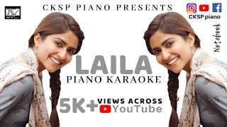 LAILA instrumental Piano Karaoke   Dhvani Bhanushali   Notebook   SKF   CKSP piano