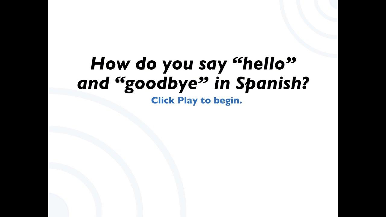 Spanish Greetings Youtube