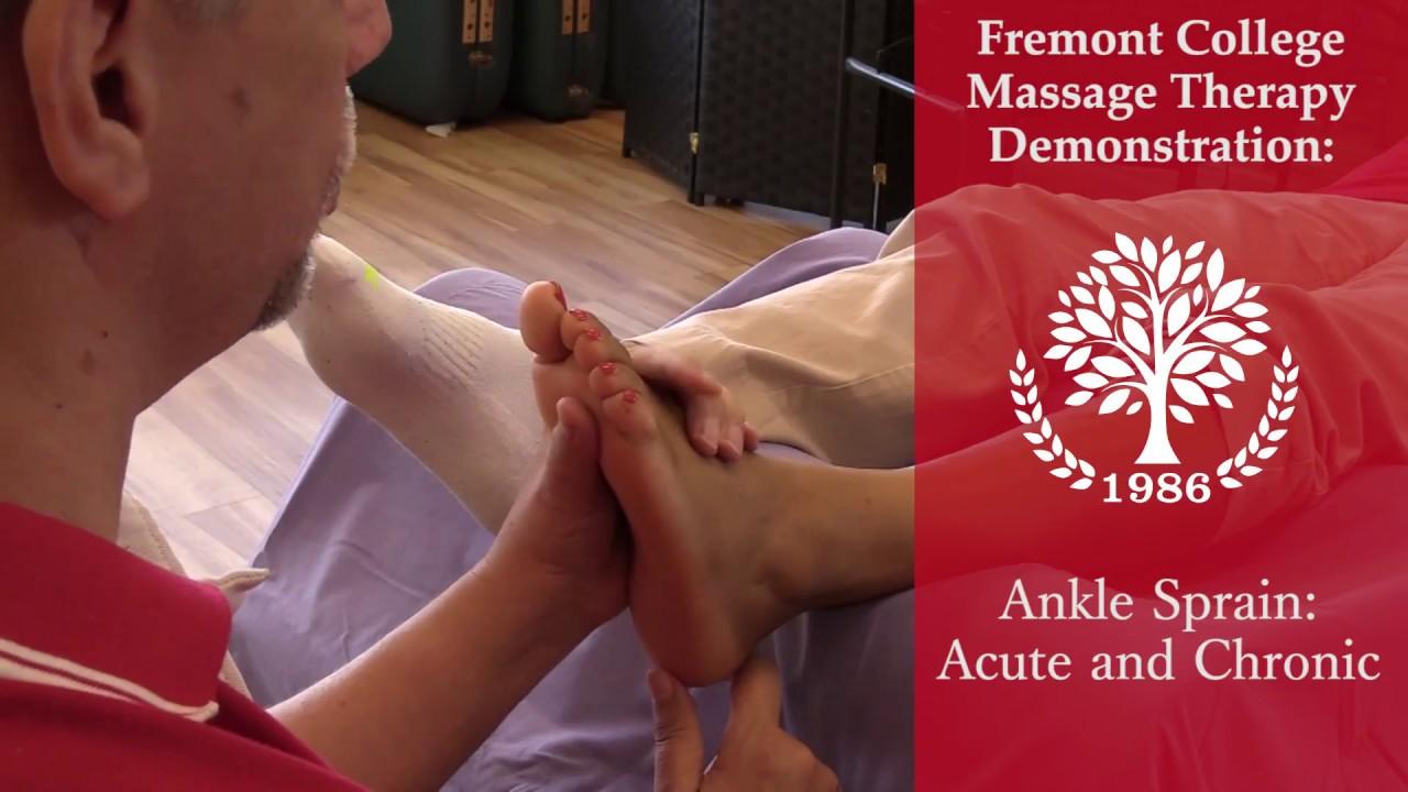 Massage Techniques for Acute Ankle Sprains | Fremont College