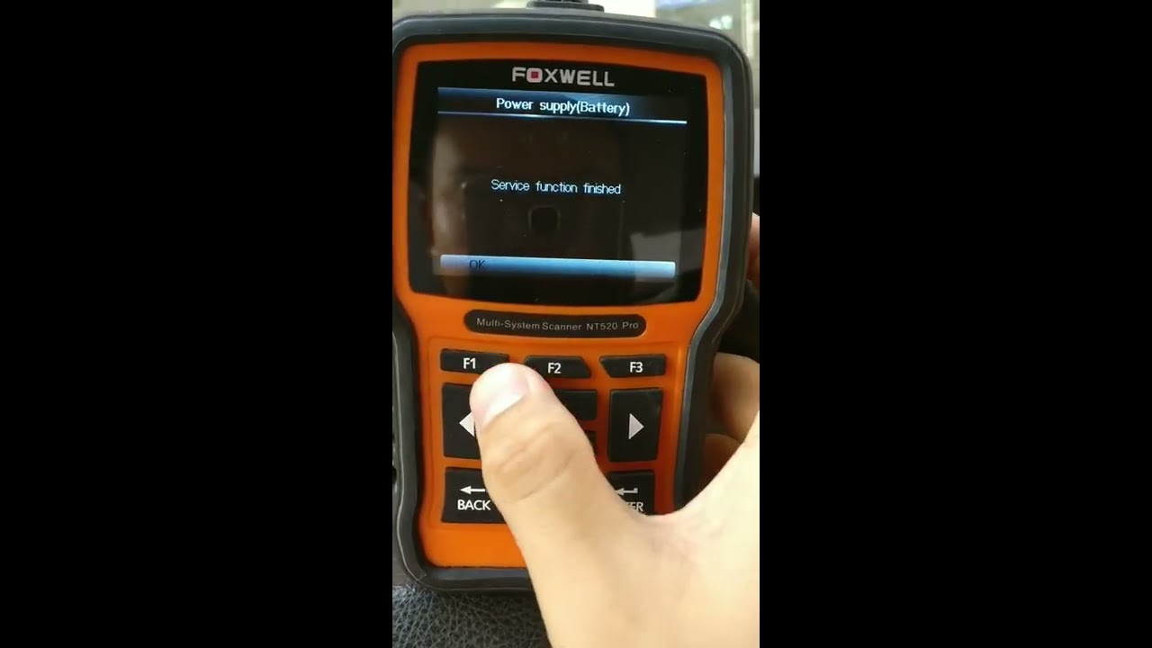 Foxwell NT520(NT510) battery register