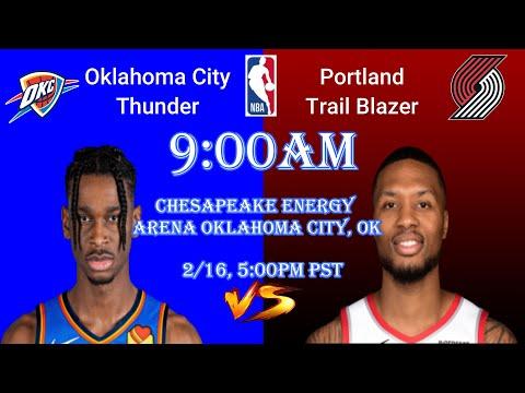 Portland Trail Blazers at Oklahoma City Thunder NBA Scoreboard Play by Play I Feb 16 2021